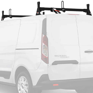 Vantech H1702 Ford Transit Connect 2014+ Steel 2 Bar Utility Ladder Racks