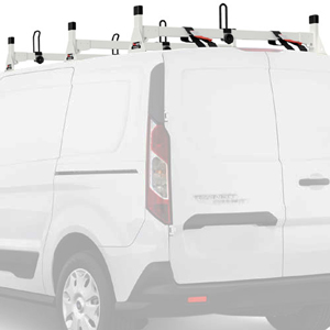 Vantech H1713 Ford Transit Connect 2014+ Aluminum 3 Bar Utility Ladder Racks