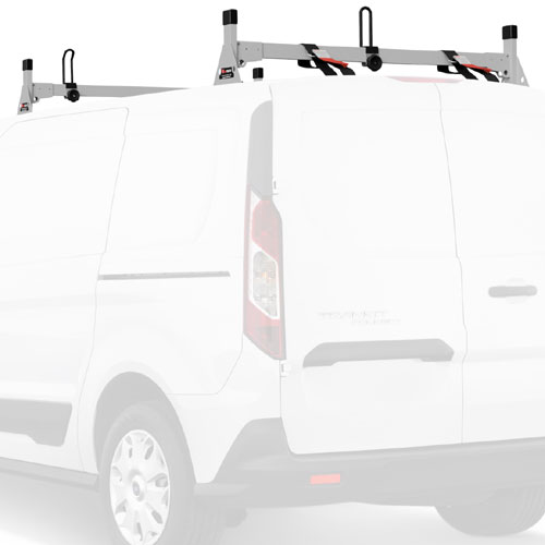 Vantech Ford Transit Connect 2014+ Stainless Steel 2 Bar Utility Ladder Racks H1717ss