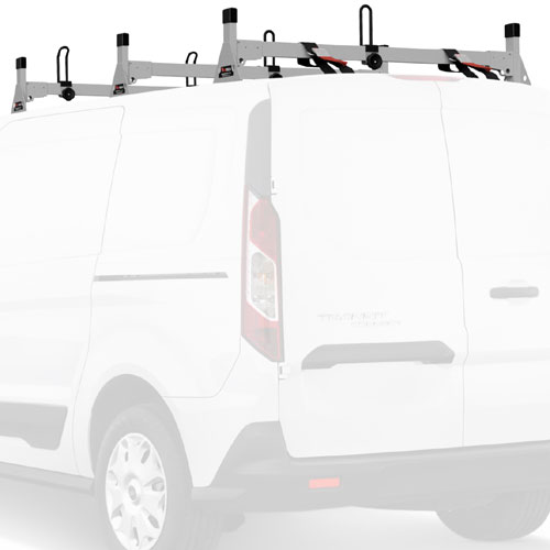 Vantech Ford Transit Connect 2014+ Stainless Steel 3 Bar Utility Ladder Racks H1718ss