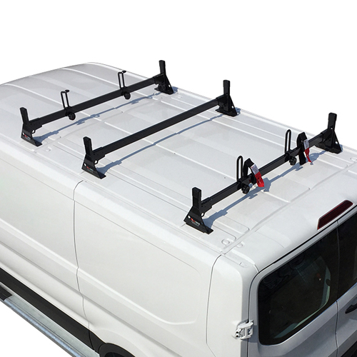 Vantech H1723 Ford Transit Cargo Van 2015+ Steel 3 Bar Ladder Rack