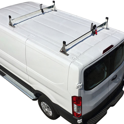 Vantech Ford Transit Cargo Van 2015+ Stainless Steel 2 Bar Utility Ladder Racks H1772