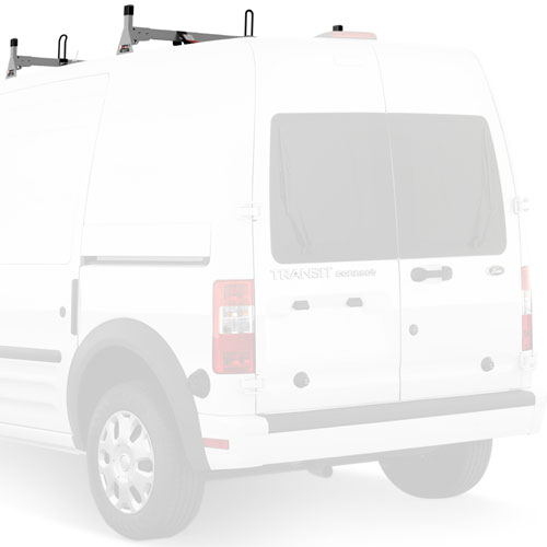Vantech Ford Transit Connect 2008-13 Stainless Steel 2 Bar Low-Profile Utility Ladder Rack With Tracks H2165