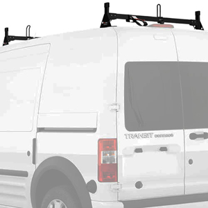Vantech H2167 Ford Transit Connect 2008-13 Aluminum 2 Bar Low-Profile Utility Ladder Rack