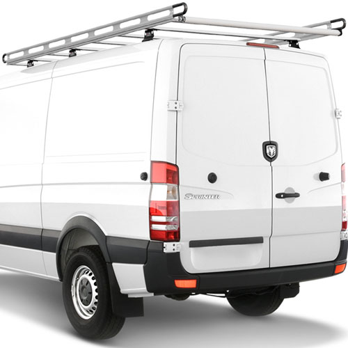 Vantech H2 Sprinter Vans with Tracks 2007+ Aluminum 144 Long 65 Wide Cargo Ladder Rack