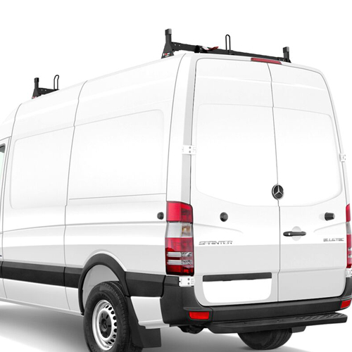 Vantech H1 H2667 Sprinter High Top Van 2007+ Steel Low Profile 2 Bar Utility Ladder Rack