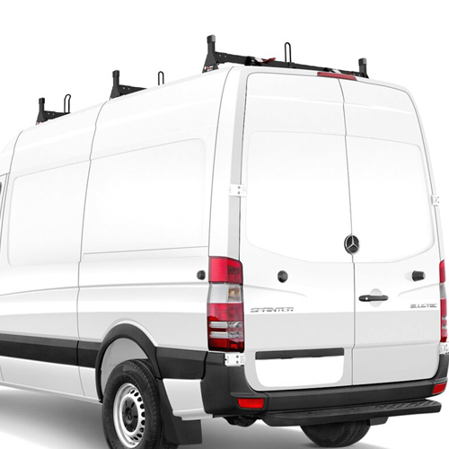 Vantech H1 H2668 Sprinter High Top Van 2007+ Steel Low Profile 3 Bar Utility Ladder Rack