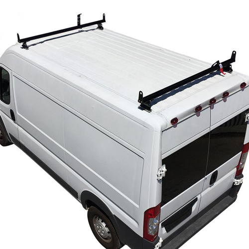 Vantech Dodge Ram ProMaster Van 2013+ Aluminum 2 Bar Utility Ladder Rack, Side Stops H3552