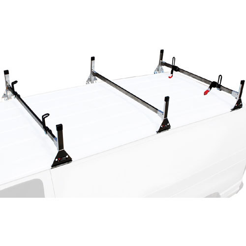 Vantech Stainless Steel 3 Bar Utility Ladder Van Racks