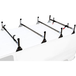 Vantech Stainless Steel 4 Bar Utility Ladder Van Racks H4156