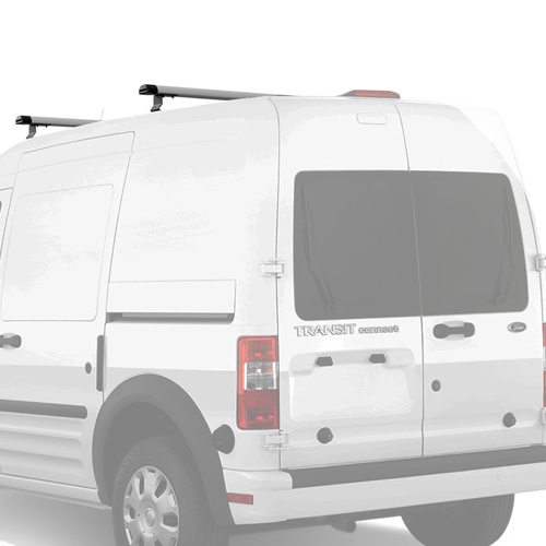 Vantech Ford Transit Connect 2008-13 Aluminum 55 2 Bar Aero Utility Ladder Racks With Tracks J1075