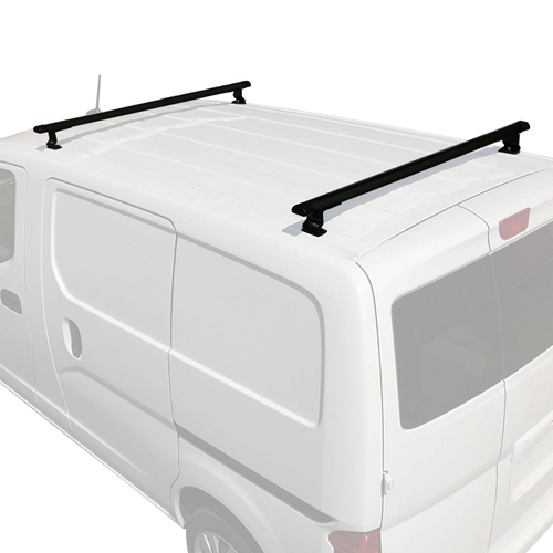 Vantech j1515b Chevy City Express 2015+ Black 2 Bar Aero Aluminum Utility Ladder Van Rack, 30% Off