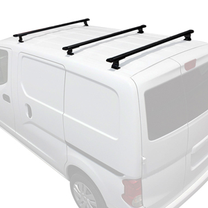 Vantech Chevy City Express 2015+ 3 Bar Aero Aluminum Utility Ladder Van Racks J1525