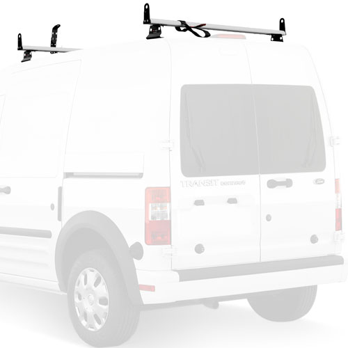 Vantech J2050 Ford Transit Connect 2008-13 Aluminum 2 Bar 50 Aero Utility Ladder Rack, Side Stops