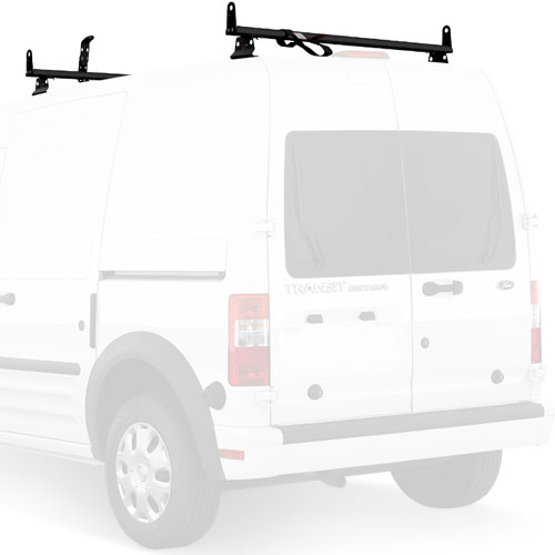Vantech Ford Transit Connect 2008-13 Aluminum 2 Bar 50 Utility Ladder Racks with Tracks J2065