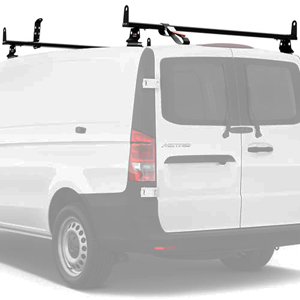 Vantech Mercedes Metris 2016+ Aluminum 2 Bar 55 Utility Ladder Rack, Side Stops J2552