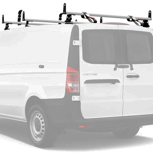 Vantech Mercedes Metris 2016+ Aluminum 3 Bar 55 Utility Ladder Rack, Side Stops J2553