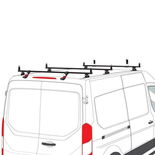 Vantech Ford Transit Cargo Van 2015+ Aluminum 3 Bar Heavy Duty Utility Ladder Rack H3713