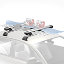Whispbar wb300 Snow Mount 6 Pair Ski Racks 4 Snowboard Carriers