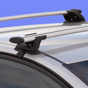 Whispbar Audi A6 Wagon with Raised Rails 1995 - 2004 S16 Smartfoot Through Bar Roof Racks