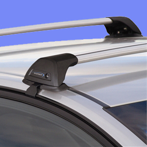 Whispbar Jeep Wrangler Unlimited Hard Top 4 Door 2007 - 2013 S11 Smartfoot Flush Bar Roof Racks