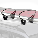 Yakima 8004044 Mako Aero Kayak Saddles Kayak Cradles Kayak Carriers for Car Roof Racks, 20% Off