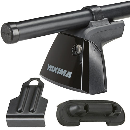 Yakima BaseLine Car Roof Rack 8000146crb with Steel RoundBars, BaseClips for Naked Rooflines