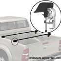 Yakima 8001140 BedRock Towers for Pickup Truck Side Rail Mount Bed Racks