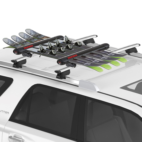 Yakima FatCat EVO 4 Black 8003095 4 Pair Ski Racks 2 Snowboard Carriers for Car Roof Racks, Rebox Item