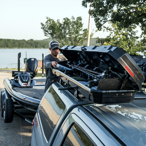 Yakima 8004088 TopWater Fishing Pole Cargo Box Holds up to 8 Rods