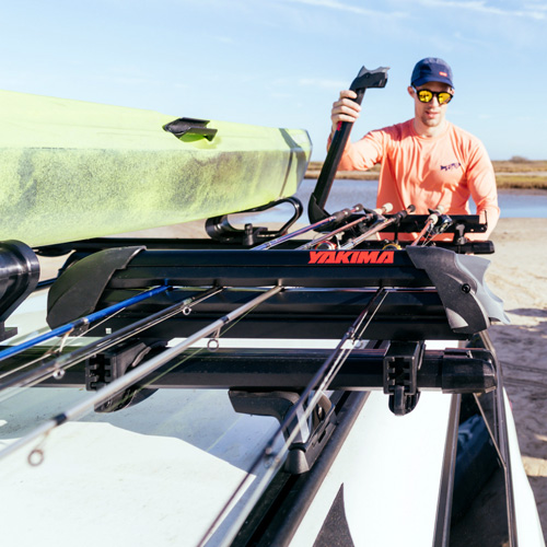 Yakima 8004089 ReelDeal 8 Fly Rod Car Roof Rack Fishing Rod Carrier