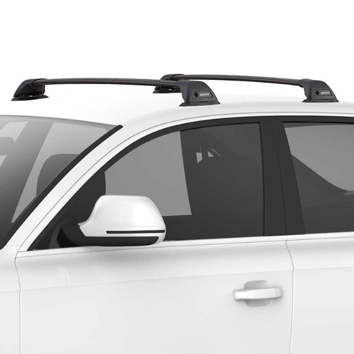 Yakima FlushBar SmartFoot Aerodynamic Car Roof Racks, 1 Bar Black