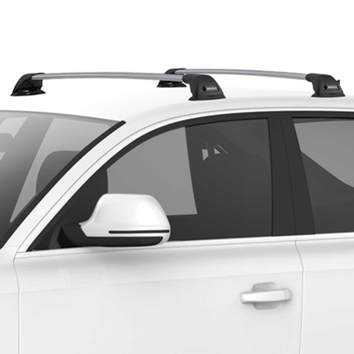 Yakima FlushBar SmartFoot Aerodynamic Car Roof Racks, 1 Bar Silver