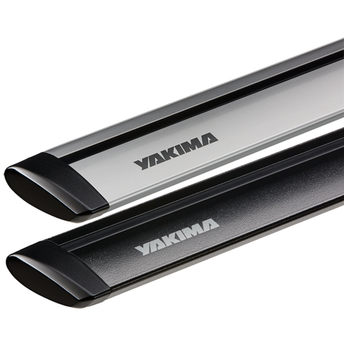Yakima JetStream Small 50, Medium 60, Large 70 Aluminum Black and Silver Bars for StreamLine Roof Racks