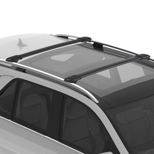 Yakima RailBar Raised Railing Car Roof Crossbar Rack, 1 Bar Black