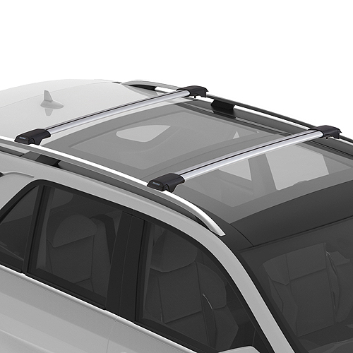 Yakima RailBar Raised Railing Car Roof Racks, 1 Bar Silver