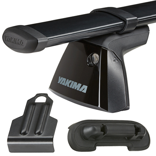 Yakima Ram 1500 Crew Cab with Ram Box 4dr 2011-2016 BaseLine Car Roof Rack with Steel CoreBars, BaseClips for Naked Rooflines