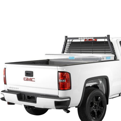 BackRack Louvered Pickup Truck Window and Cab Guard with Toolbox Kit