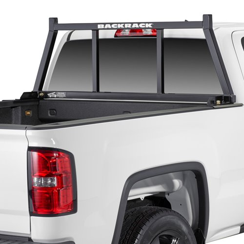 BackRack Open Pickup Truck Window and Cab Guard with Toolbox Kit