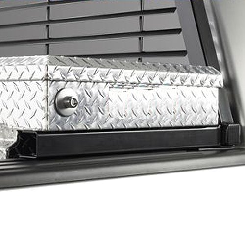 BackRack Half Louvered Pickup Truck Cab Window Guard with Toolbox Kit