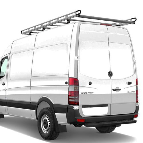 Vantech Sprinter Vans with Tracks 2007+ Aluminum 123 Long 65 Wide Cargo Ladder Rack h2462