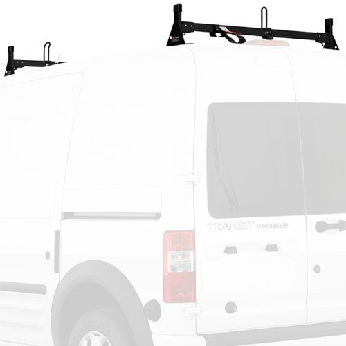 Vantech Ford Transit Connect 2008-13 Steel 2 Bar Low-Profile Utility Ladder Rack With Tracks H2166