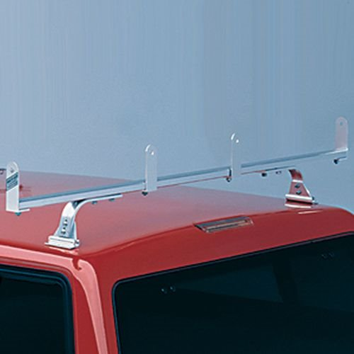 hulrhdgv3-1 Hauler HD 3 Bar Aluminum Bolt-On Utility Ladder Rack ulrhdgv3-1 for Gutterless Vans, Fiberglass Caps