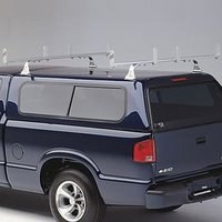 hulrhdgv-1 Hauler HD 2 Bar Aluminum Bolt-On Utility Ladder Rack ulrhdgv-1 for Gutterless Vans, Fiberglass Caps