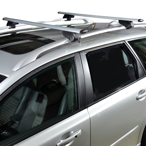 mpg215 Malone mpg215 AirFlow2 50 Aluminum Raised Railing Roof Rack and Locks