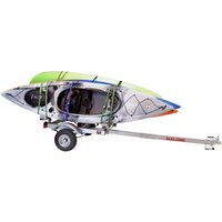 Malone mpg586xl EcoLight Trailer with Kayak Stacker Carries 4 Kayaks