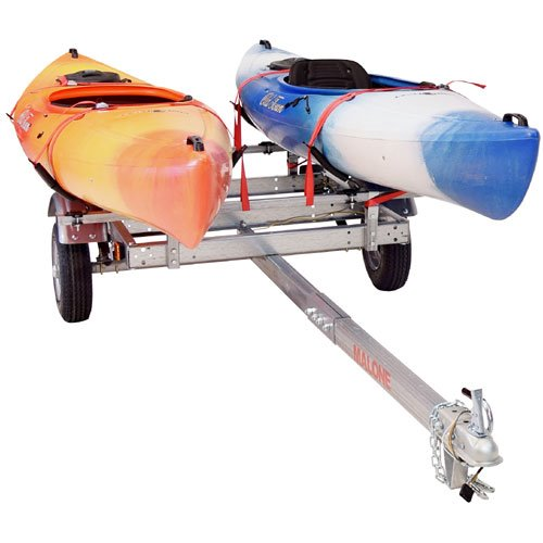 Malone mpg586xv EcoLight Trailer with 2 V-Style Kayak Carriers, Straps