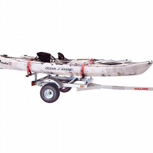 Malone mpg596xv2 LowMax Trailer and 2 V-Style Kayak Carriers