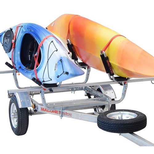 Malone mpg461g2 MicroSport Trailer, Spare Tire, J-Pro2 Kayak Carriers