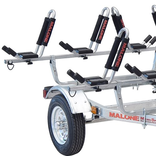 Malone mpg462g2 MicroSport Trailer, Spare Tire, 4 J-Pro2 Kayak Package